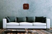Wall Clock Flora Floral Decoration Bamboo Acryl Acrylglass