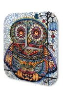 Wall Clock Bird colorful OWL Printed Acryl Acrylglas Retro
