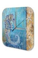 Fun Wall Clock Vintage Decoration Seahorse Acryl Acrylglass