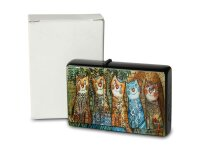 Pocket Windproof Lighter Brushed Oil Refillable painted cats