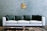 Fun Decorative Wall Clock Fish Moon Printed Acryl Acrylglass