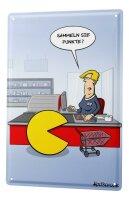 Blechschild Cartoon Holtschulte Punkte sammeln Kasse...