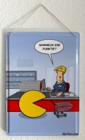 Tin sign Cartoon Holtschulte earn points Checkout food cart