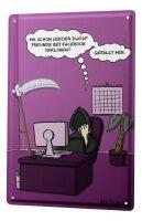 Tin sign Cartoon Holtschulte Grim Reaper Grim Reaper lost...