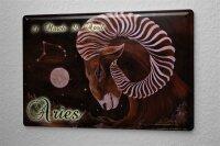 Tin Sign Horoscope Krakowski Aries