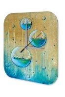 Wall Clock Travel Vintage Sailing ship Printed Acryl...