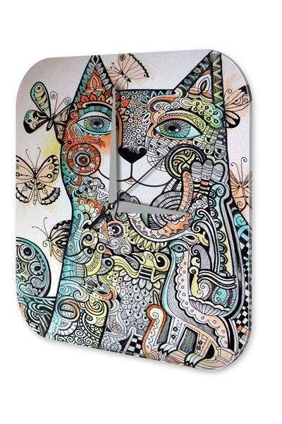 Wanduhr Tierarzt Praxis Deko Schmetterling Katze Acryl Dekouhr