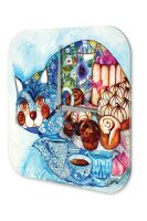 Wall Clock Cat Breed Muff in CAT Printed Acryl Acrylglass
