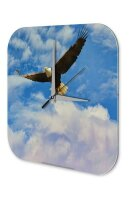 Wall Clock Bird Species Eagle Printed Acryl Acrylglass