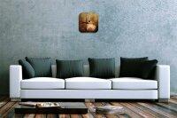 Wall Clock Bird Bread thief Printed Acryl Acrylglas Retro