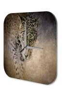 Decorative Wall Clock Vet Practice Leopard Acryl Acrylglass